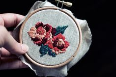 DIY: floral embroidery