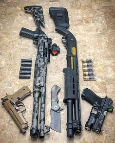 Best Place to Buy Rifle, Handgun, Shotgun Firearm Ammo Online Period! Best Place to Buy Rifle, Handgun, Shotgun Firearm Ammo Online Period! Lucky Gunner® carries ammo for sale and only offers in stock cheap ammunition - guaranteed Ninja Weapons, Weapons Guns, Guns And Ammo, Zombie Weapons, Armas Ninja, Templer, Firearms, Shotguns, Custom Guns