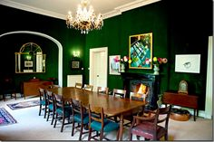 green velvet wallcovering - Traditional Style - Shades of Green