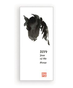 Zen Year of the Horse 5 cards for Chinese New Year by ZenBrush, $13.00