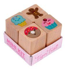 Hello Charlie - Tiger Tribe Mini Kit Wooden Stamps - Cake, $7.95 (http://www.hellocharlie.com.au/tiger-tribe-mini-kit-wooden-stamps-cake/) #hellocharlie #stockingstuffers