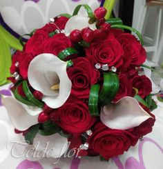 Bouquet Novia de Rosas y Calas Floristería Telde flor