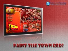 #tucanaglobal #Digital #Signage latest world news : #La #Tomatina is a food fight festival held on the last Wednesday of August each year in the town of Bunol near to Valencia in Spain. Thousands upon thousands of people make their way from all corners of the world to fight in this '#World's #Biggest #Food #Fight' where more than one hundred metric tons of over-ripe tomatoes are thrown in the streets. The week-long festival features music, parades, dancing, and fireworks.