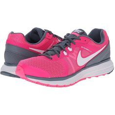 Nike Zoom Winflo Women's Running Shoes ($85) ❤ liked on Polyvore featuring shoes, athletic shoes, structure shoes, platform shoes, nike footwear, traction shoes and foldable shoes