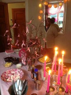 Vonnie used candles to great effect! Fundraising, Birthday Candles, Ribbon, Table Decorations, Breakfast, Pink, Home Decor, Tape, Morning Coffee