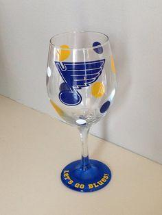St. Louis Blues 20oz wine glass  by Randipity on Etsy, $14.00