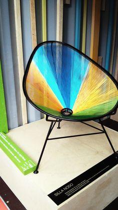 Silla Acapulco de tubular metálico tejida en diferentes colores o materiales