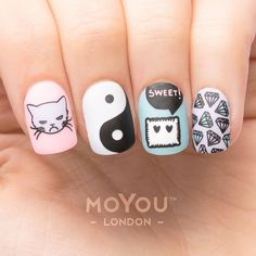 In seek out some nail designs and ideas for your nails? Here's our listing of must-try coffin acrylic nails for modern women. Love Nails, Pretty Nails, My Nails, Cute Acrylic Nails, Cute Nail Art, Nail Manicure, Nail Polish, American Nails, Girls Nails