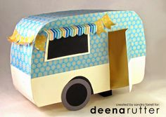 Stamper On The Shore: Tiny 3D Camper Tutorial