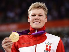 Danish Lasse Norman Hansen wins olympic gold in the Men's Omnium event of Track Cycling in the 2012 London Olympics