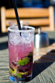 "{Blueberry Mojito} This recipe is ""Mama's Medicine"" after a day of creative work during the dog days of summer. Oh gosh, is it wrong for me to want one at 9:57am?!? So good."