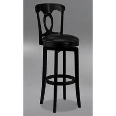 Hillsdale Furniture 4168-832 Corsica Swivel Bar Stool by Hillsdale Furniture. $189.00. Style Traditional. Assembled Dimensions 44.75 in. H x 18 in. D x 18 in. W. Black Finish. Material Vinyl. Other Dimensions 30 in. - Seat Height. Finish:Black, Upholstery:Black Vinyl, Seat Height:30' (Bar Height) The Corsica, available in both a brown or a black finish, features a 360 degree swivel, matching faux leather seats, cozy French Country design elements and simple, t...