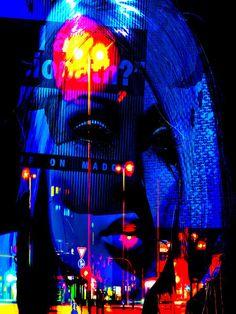 'The blue woman at Hamburg' von Gabi Hampe bei artflakes.com als Poster oder Kunstdruck $23.56