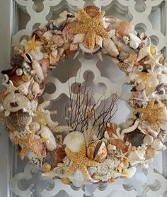 Hey, I found this really awesome Etsy listing at https://www.etsy.com/listing/216543354/by-the-sea-shell-wreath