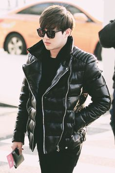 Kim Joon Myeon, Suho Exo, Exo Members, Picture Collection, Love Her, Husband, Leather Jacket, Kpop, Mens Fashion
