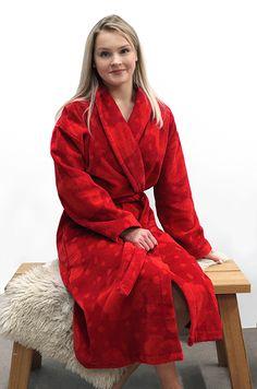 Naisten kylpytakki, punainen/ oranssinpunainen - Ratiashop Design, Fashion, Dress, Moda, Fashion Styles, Fashion Illustrations