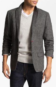 Original Penguin Peak Lapel Tweed Blazer available at #Nordstrom