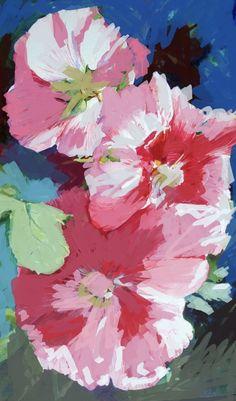 Hollyhocks 2020 Hollyhock, Still Life, Abstract, Floral, Artwork, Painting, Summary, Work Of Art, Auguste Rodin Artwork