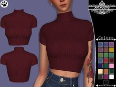 The Sims 4 Rib-Knit Turtleneck Sims 4 Mods Clothes, Sims 4 Clothing, Sims Mods, Sims 4 Game Mods, Sims 4 Tsr, Sims Cc, Maxis, Vêtement Harris Tweed, Sims 4 Collections