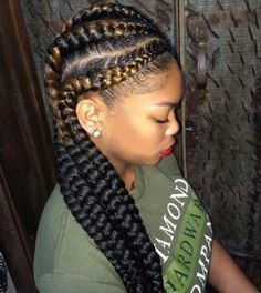 Long Ghana Braids Style