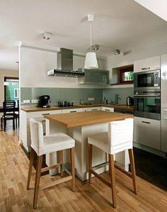 Color scheme for white kitchen – 32 ideas for wall color - White Kitchen Remodel Kitchen Cupboard Handles, White Kitchen Cabinets, Kitchen Walls, Kitchen Design Open, Interior Design Kitchen, Homemade Furniture, Green Kitchen, Interior Exterior, Kitchen Furniture