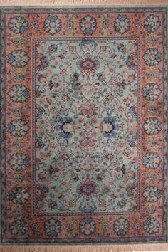 Dutchbone vloerkleed Carpet Bid Old Green