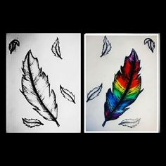 Feather floating in the wind @xxnakitaxx @my.sketches.xx