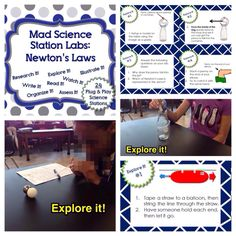 Newtons laws station lab. Allow students to lead their own learning through each of newton's 3 laws.