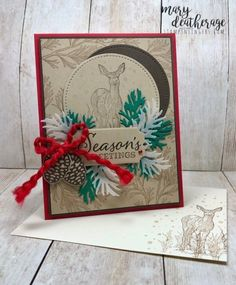Stampin' Up! from Stamps-N-Lingers. I love the beautiful images in the Nature… – Christmas DIY Holiday Cards Stampin Up Christmas, Christmas Cards To Make, Xmas Cards, Handmade Christmas, Holiday Cards, Christmas 2019, Christmas Projects, Christmas Holiday, Winter Karten
