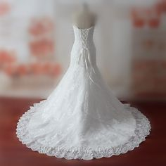 205.00$  Watch now - http://visfd.justgood.pw/vig/item.php?t=tilyi82813 - Custom Made Wedding Dresses Sweetheart Sequined Wedding Gowns Lace Bridal Gowns 205.00$