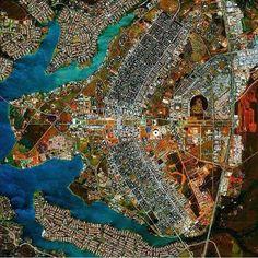 Brasília vista do espaço