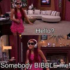 Somebody bibble me! Ariana Grande Victorious, Icarly And Victorious, Sam And Cat, Imperfection Is Beauty, Disney Shows, Funny Girls, Cat Valentine, She Song, My Princess