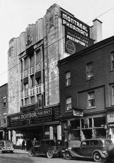 Pharmacie Montréal (916, rue Ste-Catherine Est) Old Montreal, Montreal Ville, Montreal Quebec, Quebec City, Portal, Entertainment Sites, Canada, School Pictures, Album