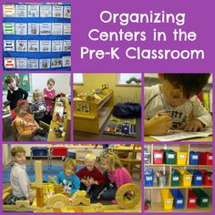 organizing centers in the pre-k classroom, this is amazing!