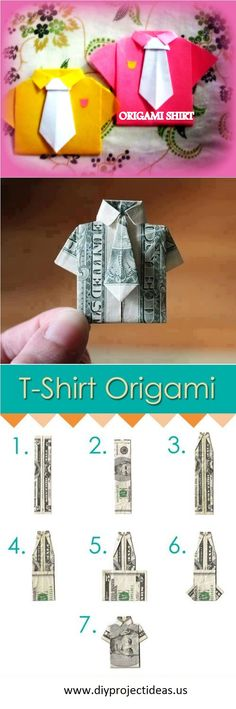 How to Make Cute DIY T-Shirt Origami. This would be a cute Father's Day gift!