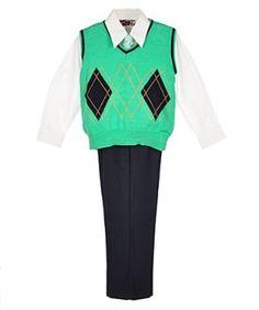 James Morgan `Minimal Argyle` 4-Piece Outfit (Sizes 8 - 20) $27.99