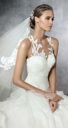 Soft Ruffle Detailing in Preston by Pronovias Bridal Gowns Pronovias Wedding Dress, 2016 Wedding Dresses, Wedding Attire, Bridal Dresses, Wedding Gowns, Bridesmaid Dresses, Dresses 2016, Wedding Dressses, Wedding Band