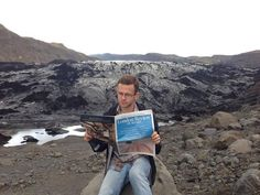 Reading about pain in the London Review of Books on ashy Sólheimajökull in South Iceland #ReadEverywhere
