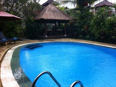 More pool, with massage hut at the back.  I totally recommend the 1 hour Balinese massage!