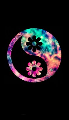 7ce2568303 Floral yin yang galaxy iPhone /Android wallpaper I created for the app  CocoPPa