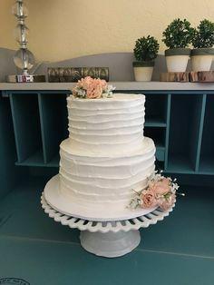 Two tier faux/fake wedding cake