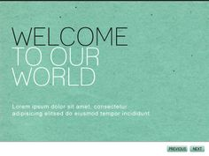 Modernist PowerPoint Template:  Texture/paper type background. Simple color scheme