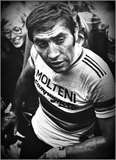 Eddy in one of the Ardennes classics in '75
