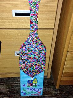 Disney UP themed paddle. but for a diamond board :) Alpha Phi Omega, Phi Sigma Sigma, Delta Phi Epsilon, Kappa Alpha Theta, Chi Omega, Tri Delta, Alpha Chi, Phi Mu, Delta Gamma