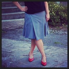 Jolier wraparound skirt from Seele and shoes from Vintage Garden. Wraparound, What To Wear, Midi Skirt, High Waisted Skirt, Garden, Pretty, Skirts, Life, Shopping