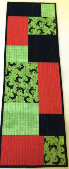 Reversible Quilted Halloween Table Runner Table by LawsonCreations