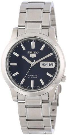 Seiko Men's SNK793 'Seiko 5' Stainless Steel Blue Dial Automatic Watch