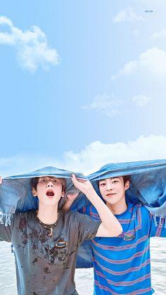 baekhyun and xiumin 😘😘😘 Kaisoo, Chanbaek, Exo Ot12, Chanyeol, Kyungsoo, Shinee, Exo Group, Exo Lockscreen, Xiuchen