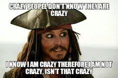 Haha.. Love Captain Jack Sparrow!  :)