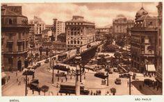 Vista do escritório da presidência do Mappin, na Praça do Patriarca, década de 1920.
